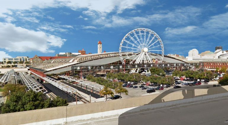 Rendering of planned Ferris wheel at Union Station