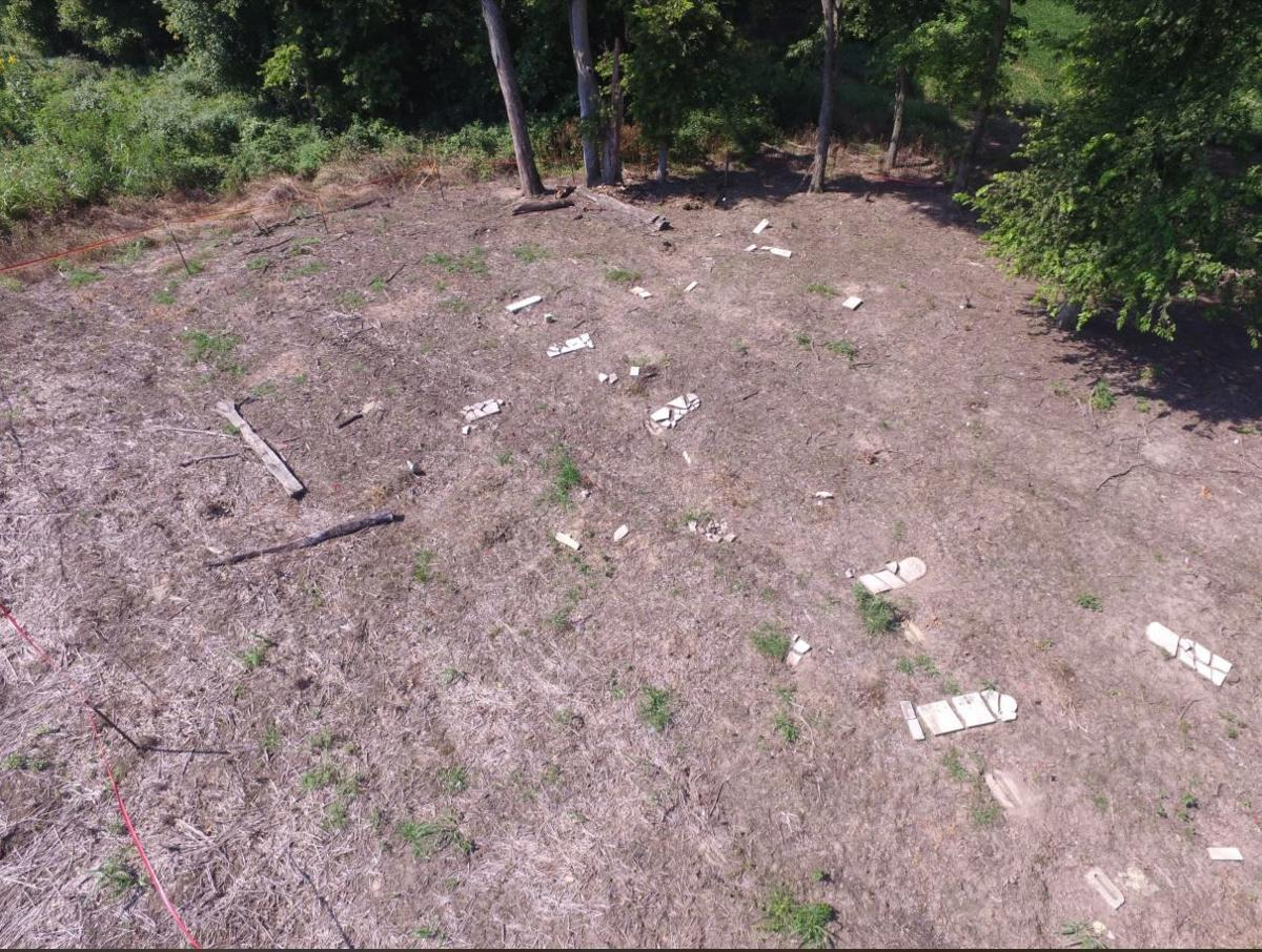 Aerial view of Smith-Speed Cemetery in Jefferson County