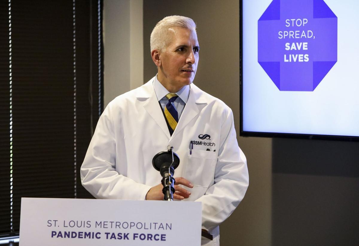 Dr. Alexander Garza delivers press briefing