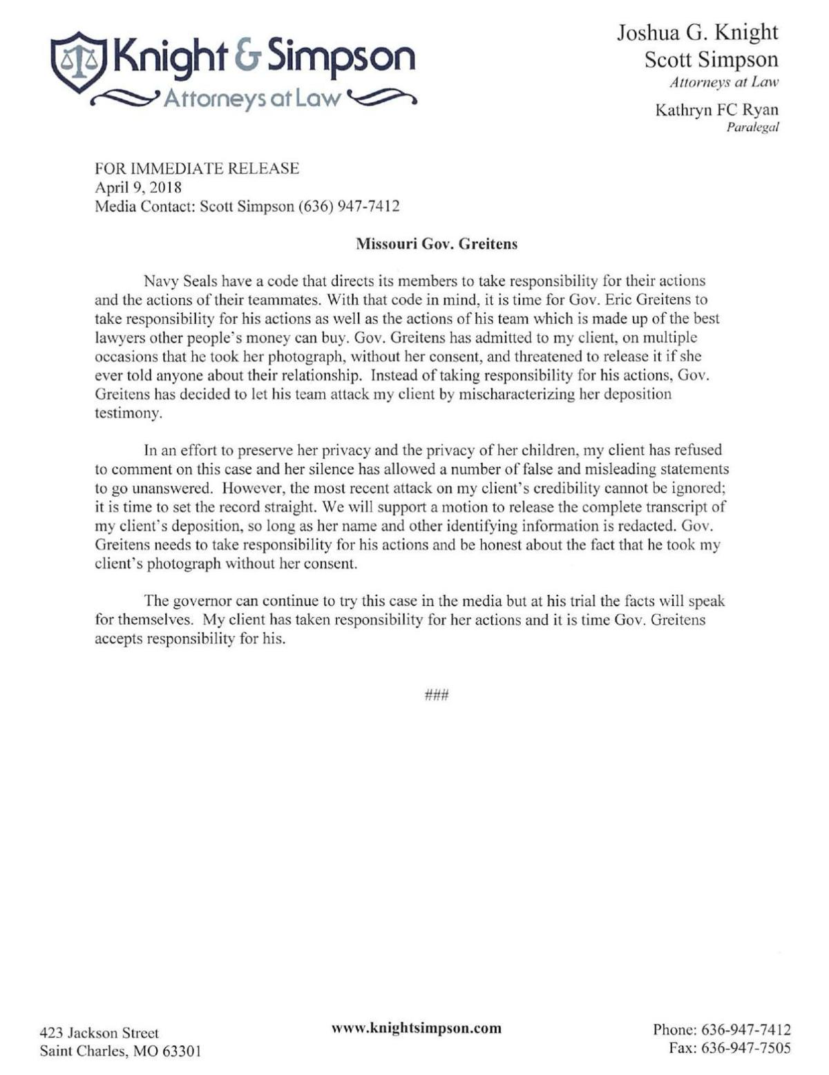 Statement from lawyer