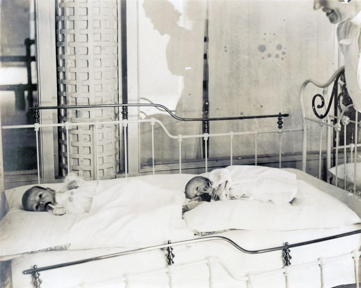 Historical Society image of infants at 1904 World's Fair