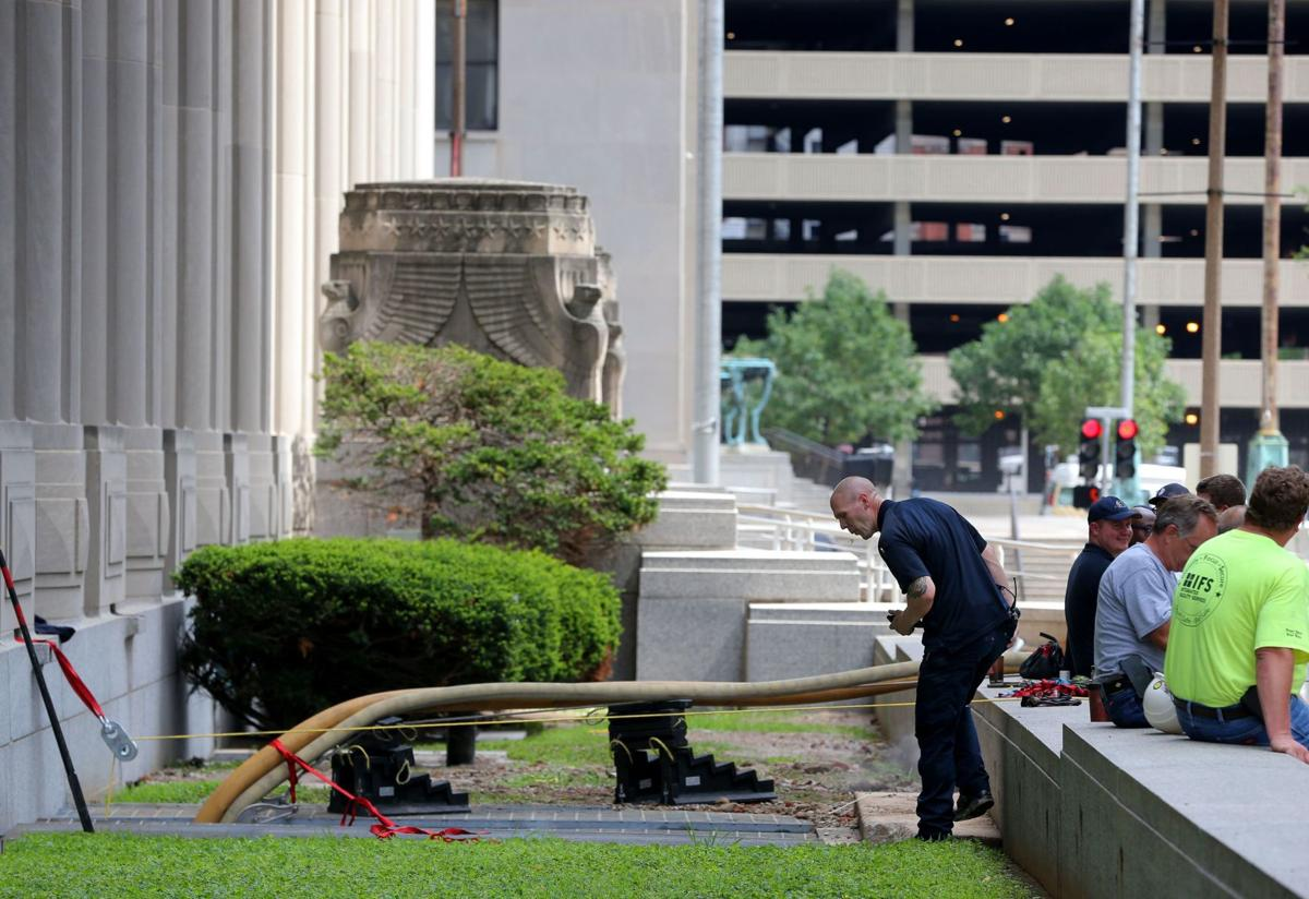 Carnahan courthouse in downtown St. Louis back open Monday after weekend flooding