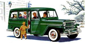 '50s-ish Jeep station wagon? Willys 'Jeep' Utility Wagon? Looks like an SUV to me!.
