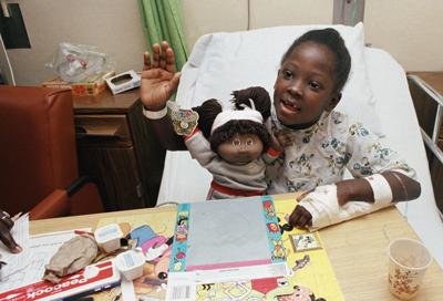 Cabbage Patch Kids doll cheers up young hospital patient