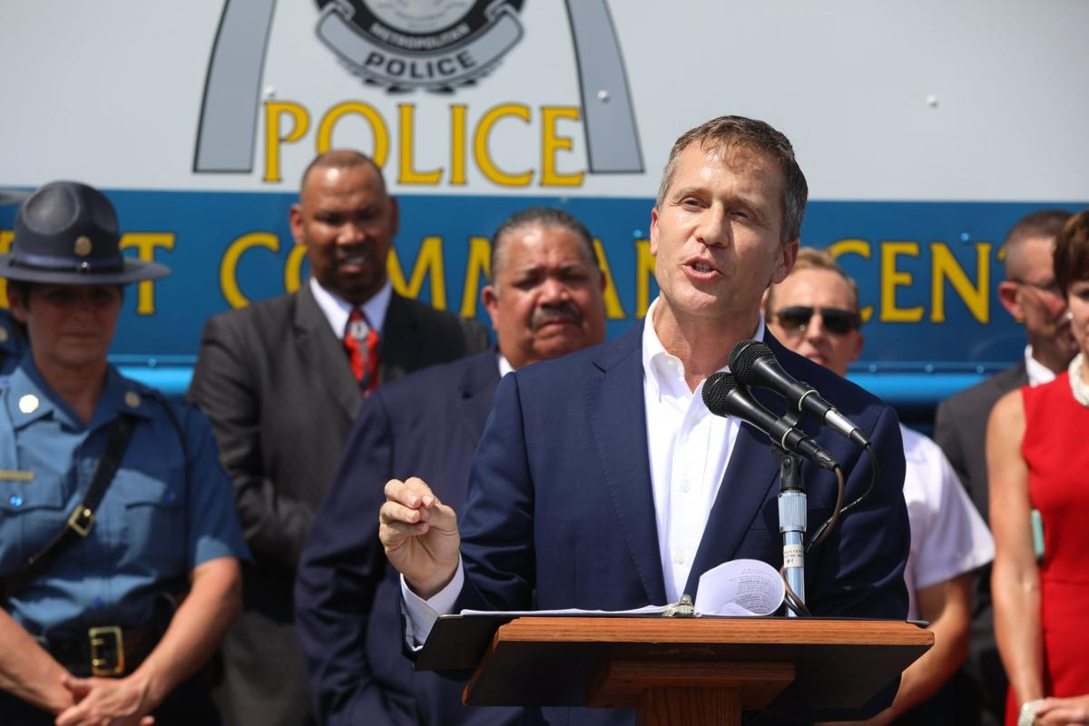 Governor Greitens discusses public safety plans for St. Louis