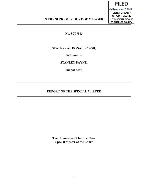 Doc Nash special master report