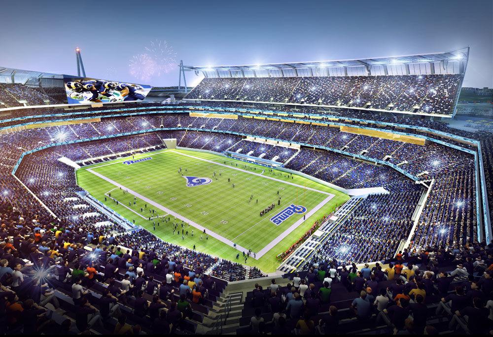 Proposed riverfront stadium, upper deck bowl view