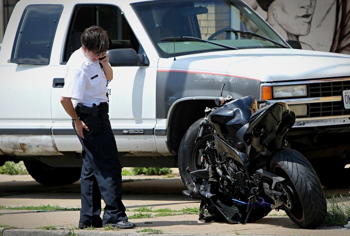 Motorcycle accident involving off-duty police officer