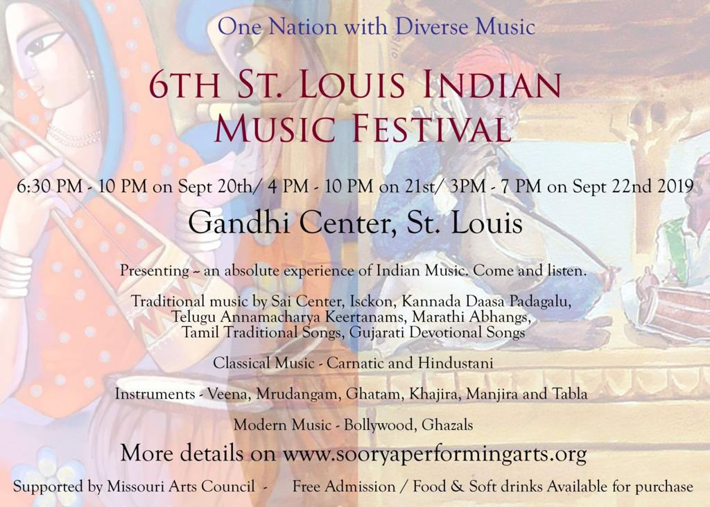 6th Annual St  Louis Indian Music Festival September 20-22
