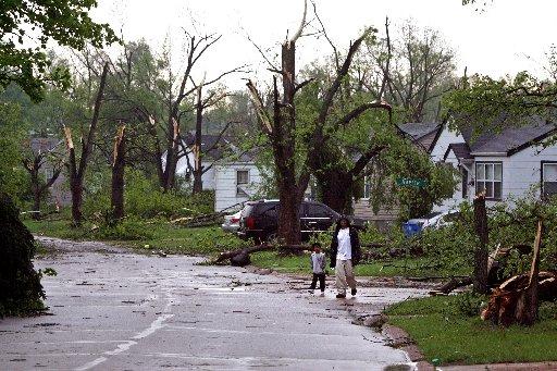 Berkeley man surveys storm damage