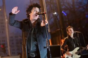 Short but sweet, Green Day blazes through free NHL concert outside Enterprise Center Saturday