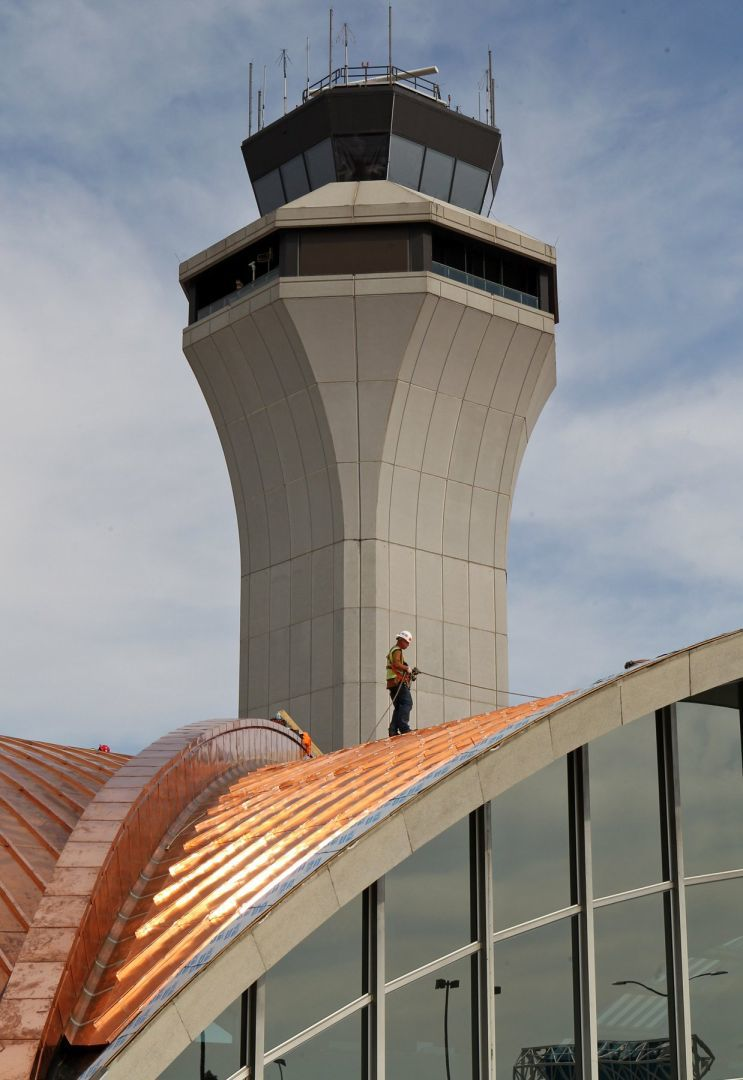 New copper roof on Lambert nearing completion