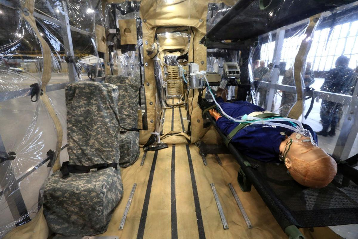 Scott Air Force Base unveils air transport system for