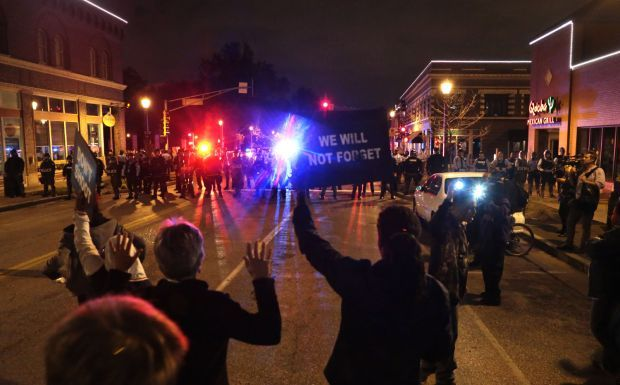 Protest near Shaw shooting scene in St. Louis