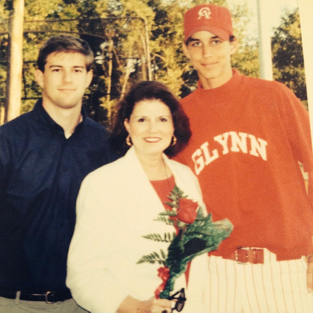 Adam Wainwright and his mother Nancy Wainwright