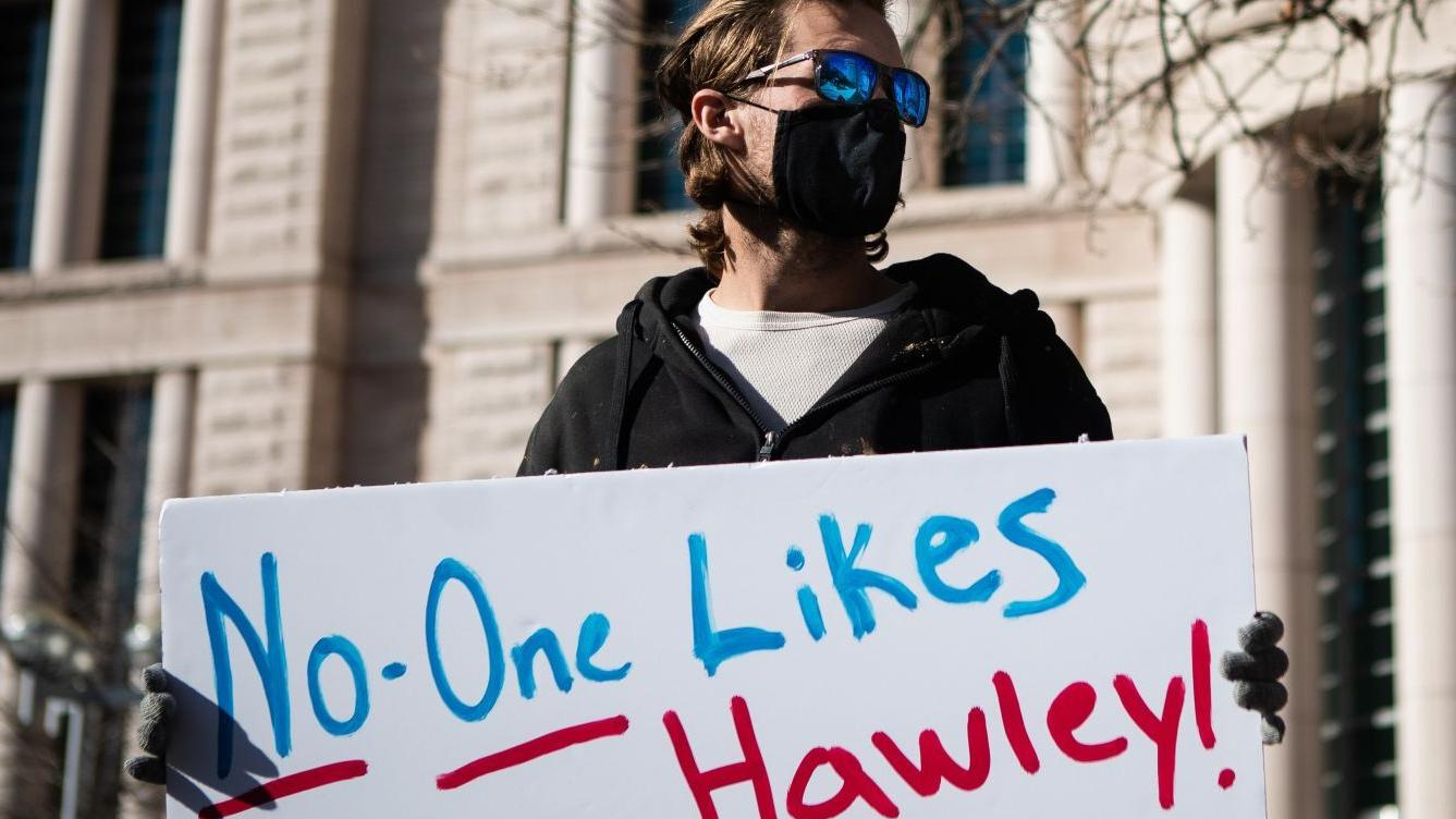 'Extraordinary events': Local companies are latest to pause donations to Hawley after Capitol riot