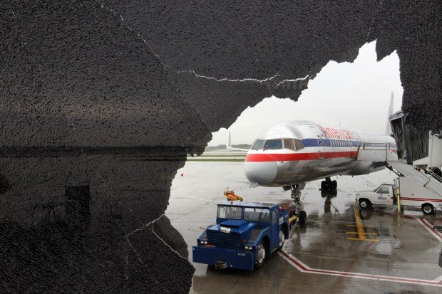 Airport damage