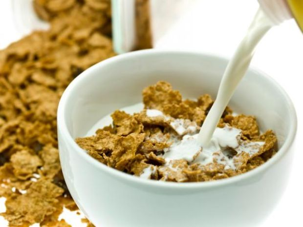 Bowl Of Cornflakes And Milk cereal