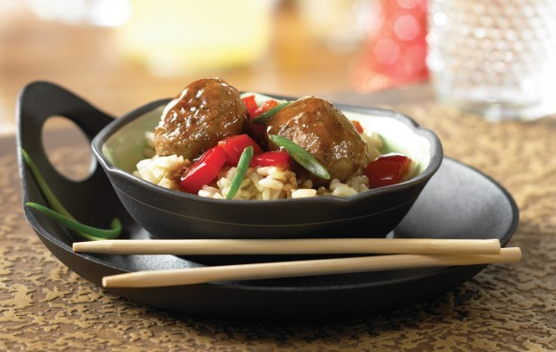 Sweet-and-Sour Veggie Meatballs