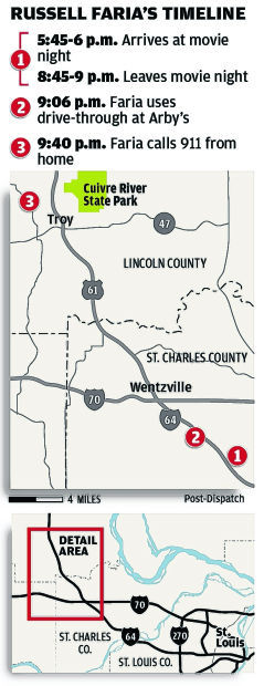 MAP: Russell Faria's timeline