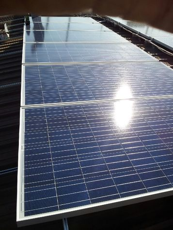 Solar panels at MA Tech