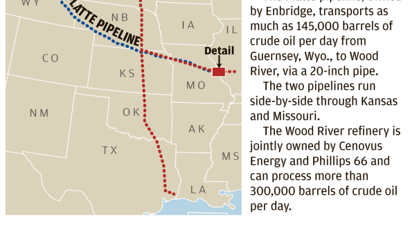 Keystone pipeline identified as likely source of crude oil