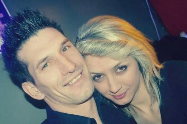 Zemir Begic, 32, with fiancée Arijana