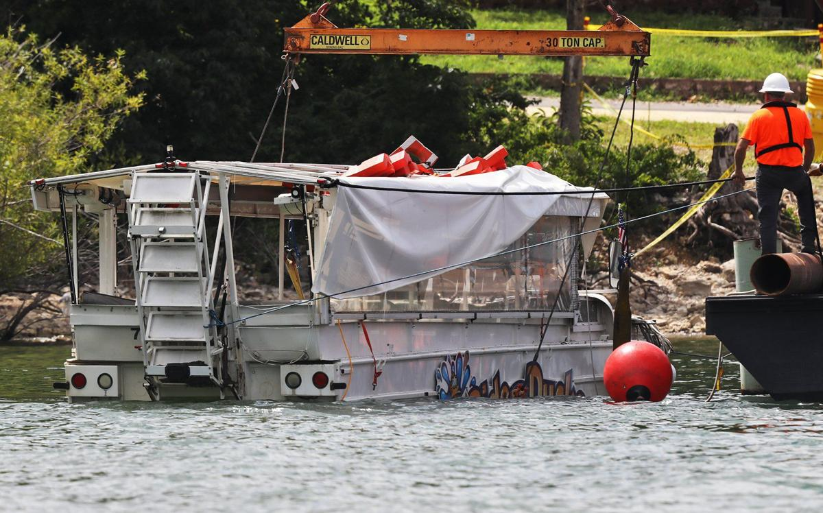 Duck Boat recovered from the bottom of Table Rock Lake