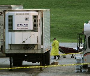 Refrigerated trucks serve as temporary morgue in Joplin