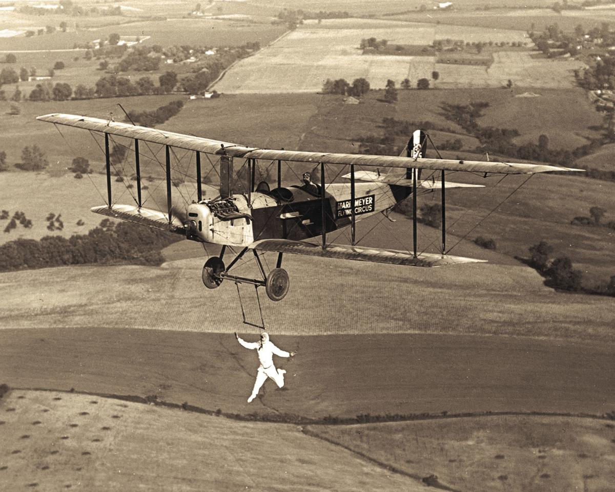 Bertie Brooks and plane