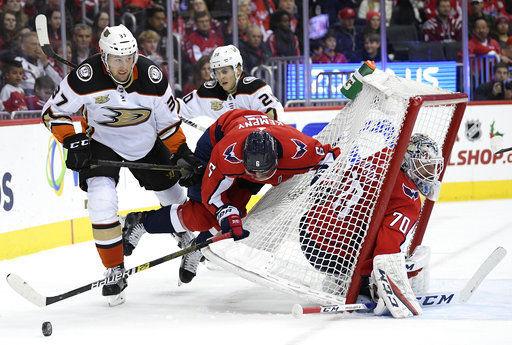 NHL: Ducks end Capitals' seven-game winning streak