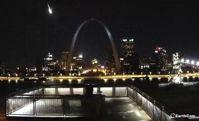 View of St. Louis Meteor Courtesy of EarthCam