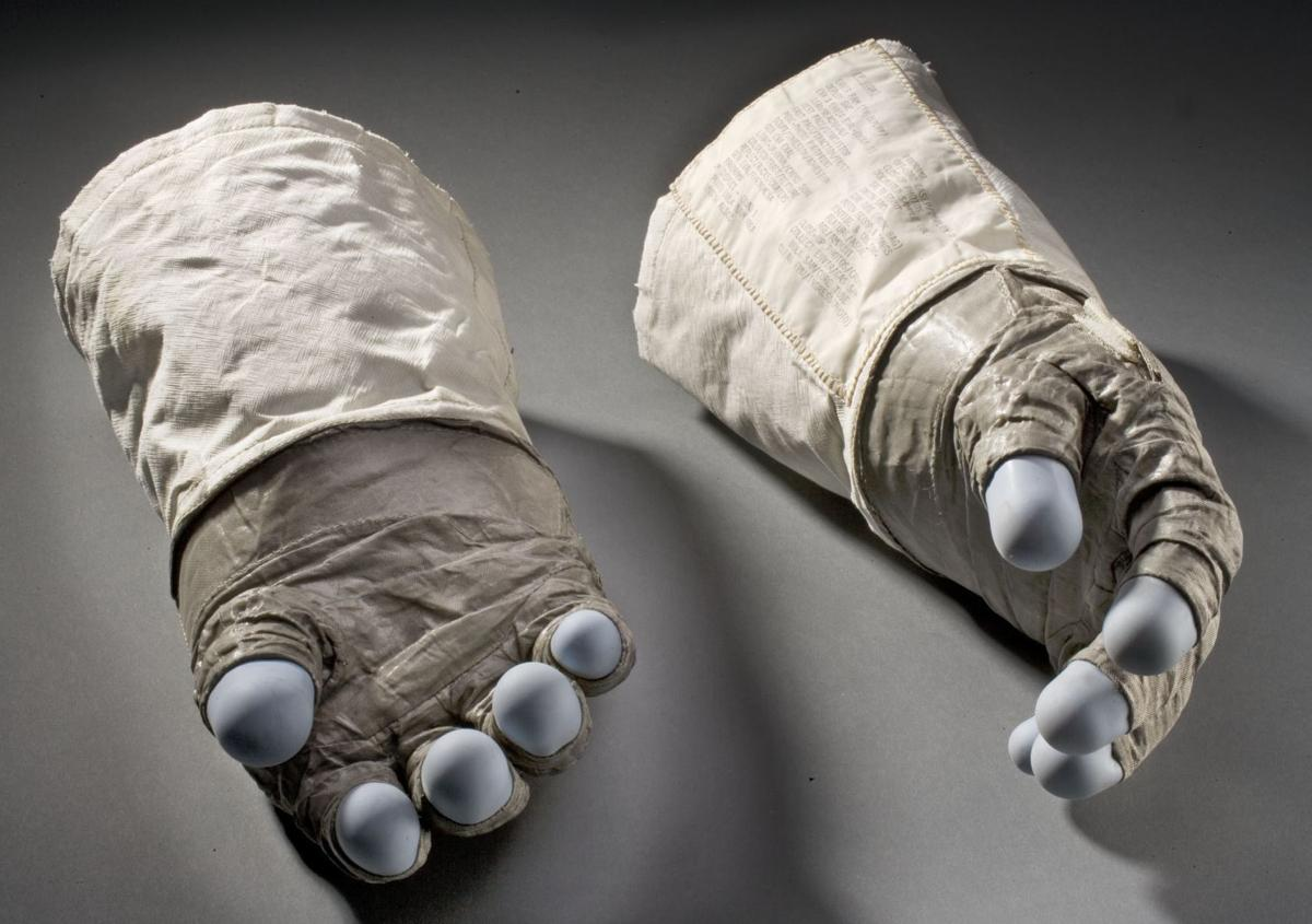 Buzz Aldrin's gloves