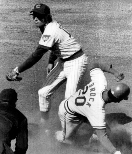 Lou Brock steals his 118th base of 1974