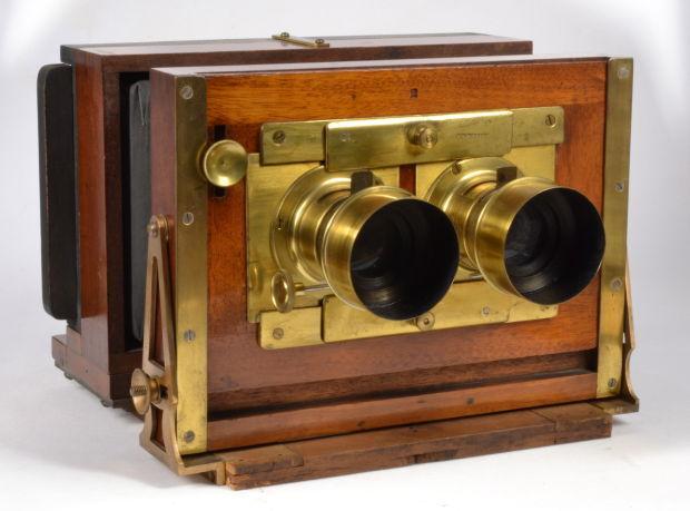 John Stock stereo wet plate camera
