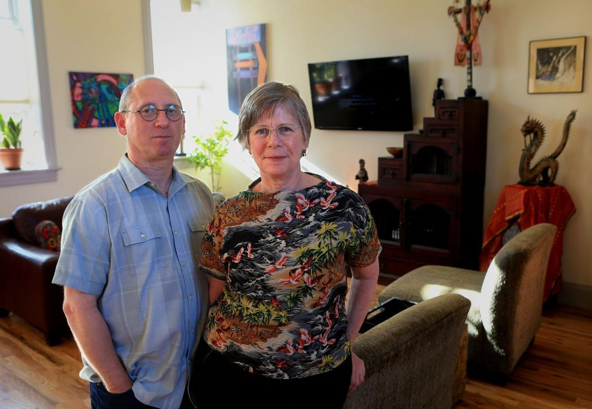 At home: Dorothy Jones and Mark Nevelow
