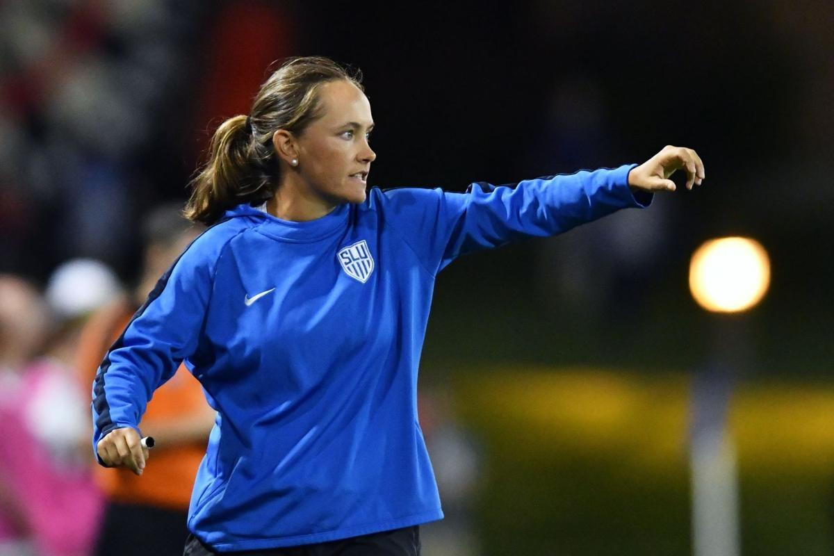 SLU women's soccer coach Katie Shields