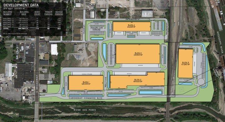 Site plan of River City Business Park