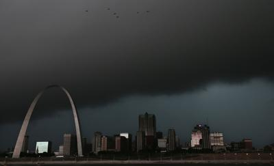 Storms approach downtown