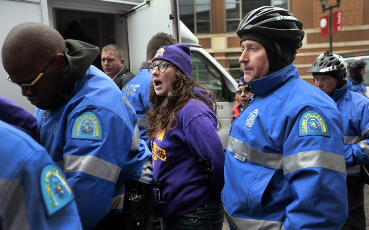 Arrests made as protesters call for pay raise for local janitors