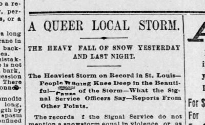 'A queer local storm'