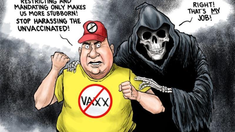 In the cartoons: Anti-vaxxers