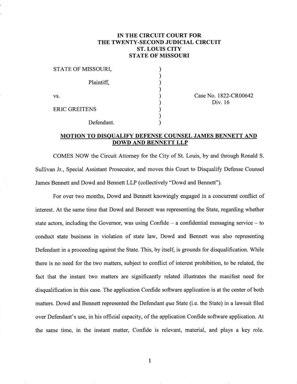 Judge denies motion to dismiss Greitens case; says jury ...