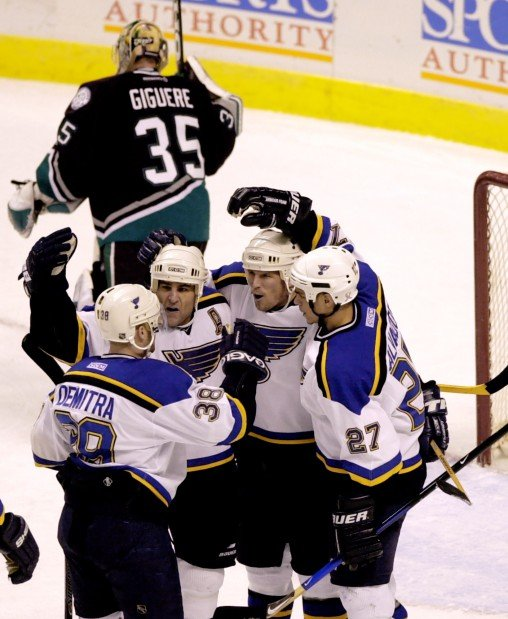 Pavol Demitra with Scott Mellanby, Keith Tkachuk and Bryce Salvador