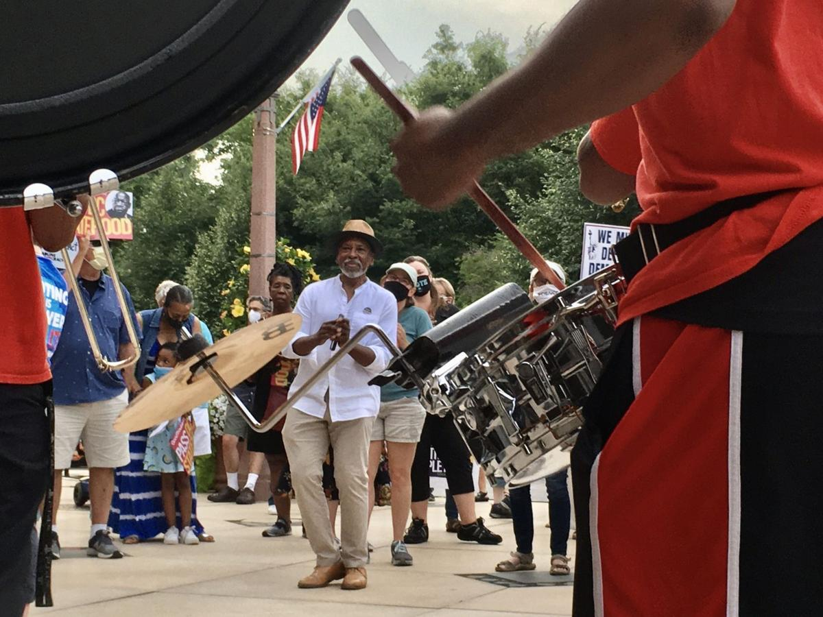 Dancing at the 'Good Trouble' vigil in St. Louis