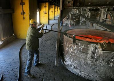 Aluminium smelting at Noranda in New Madrid, Mo