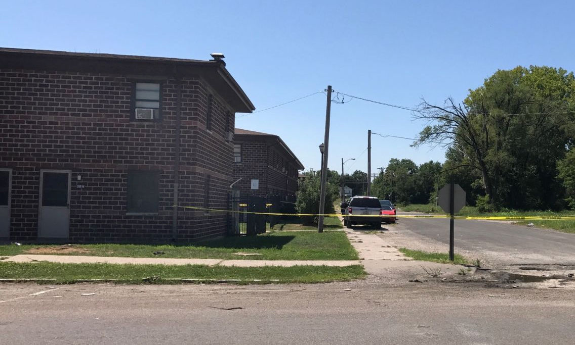 East St. Louis mother killed scene