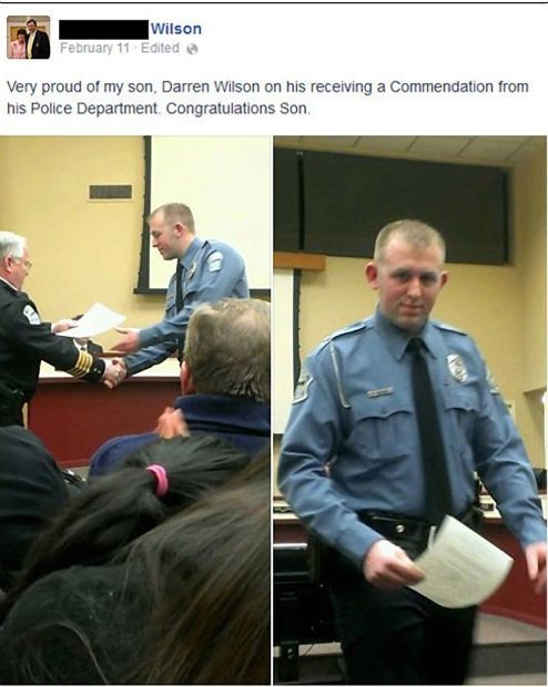 Facebook photo of Ferguson police officer Darren Wilson