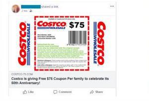 Ιογενής $75 Costco κουπόνι είναι ψεύτικο, η εταιρεία λέει, έτσι ώστε να σταματήσει αναδημοσίευση αυτό