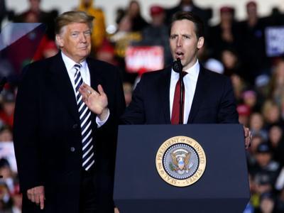 President Trump campaigns for Missouri Attorney General and Republican U.S. Senate candidate Josh Hawley in Columbia